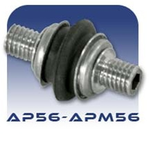 American Series AP56/APM56 Threaded Flex Joint - Stainless Steel and Buna Nitrile
