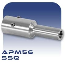 American Series APM56 SSQ Pinned Stub Shaft, Chrome Plated Stainless Steel